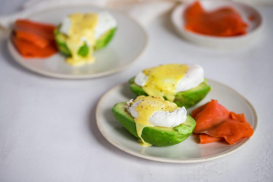 Avocado Salmon Eggs Benedict Featured