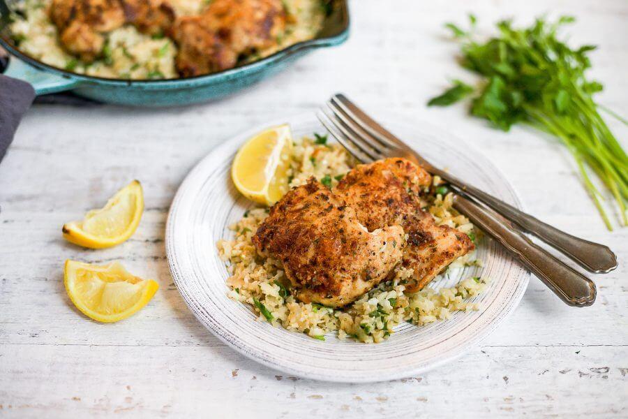 Butter Chicken with Parmesan Cauliflower Rice