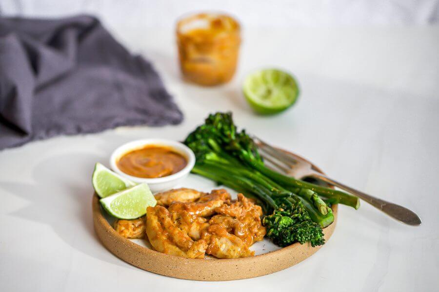 Chicken Satay with Broccolini