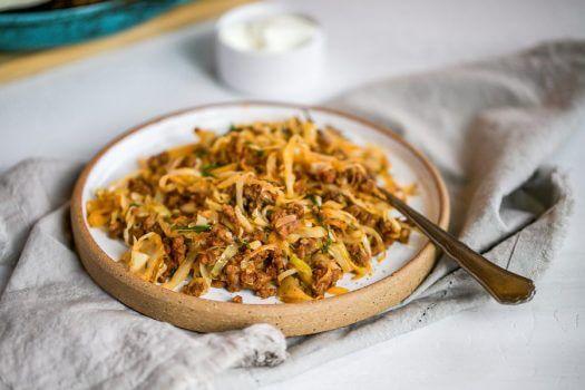 Keto Italian Cabbage Stir Fry Featured